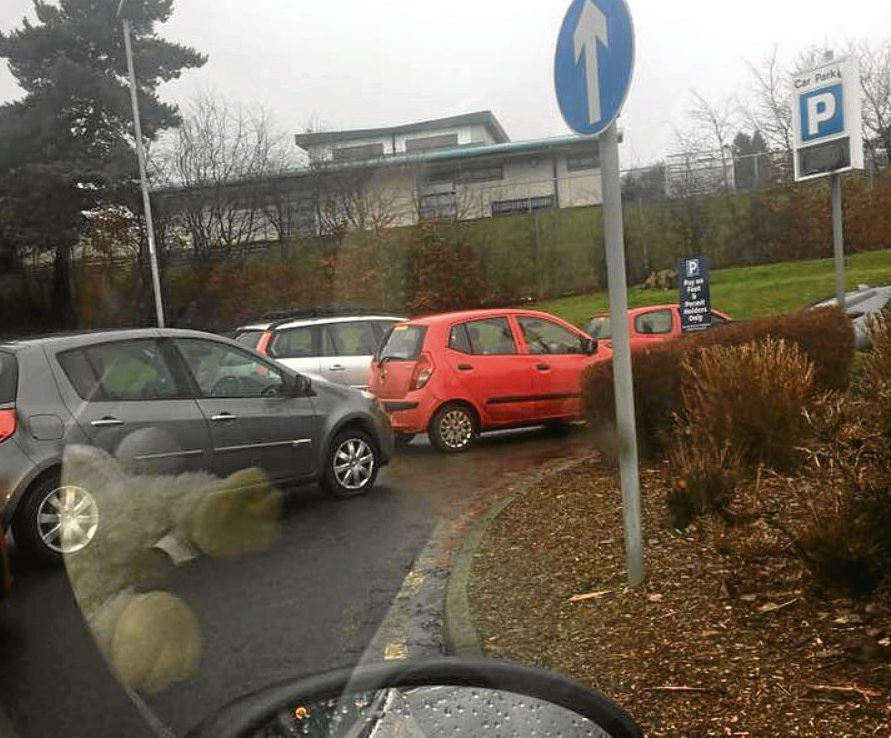 "Ninewells car park on February 7, described as ""chaos"""