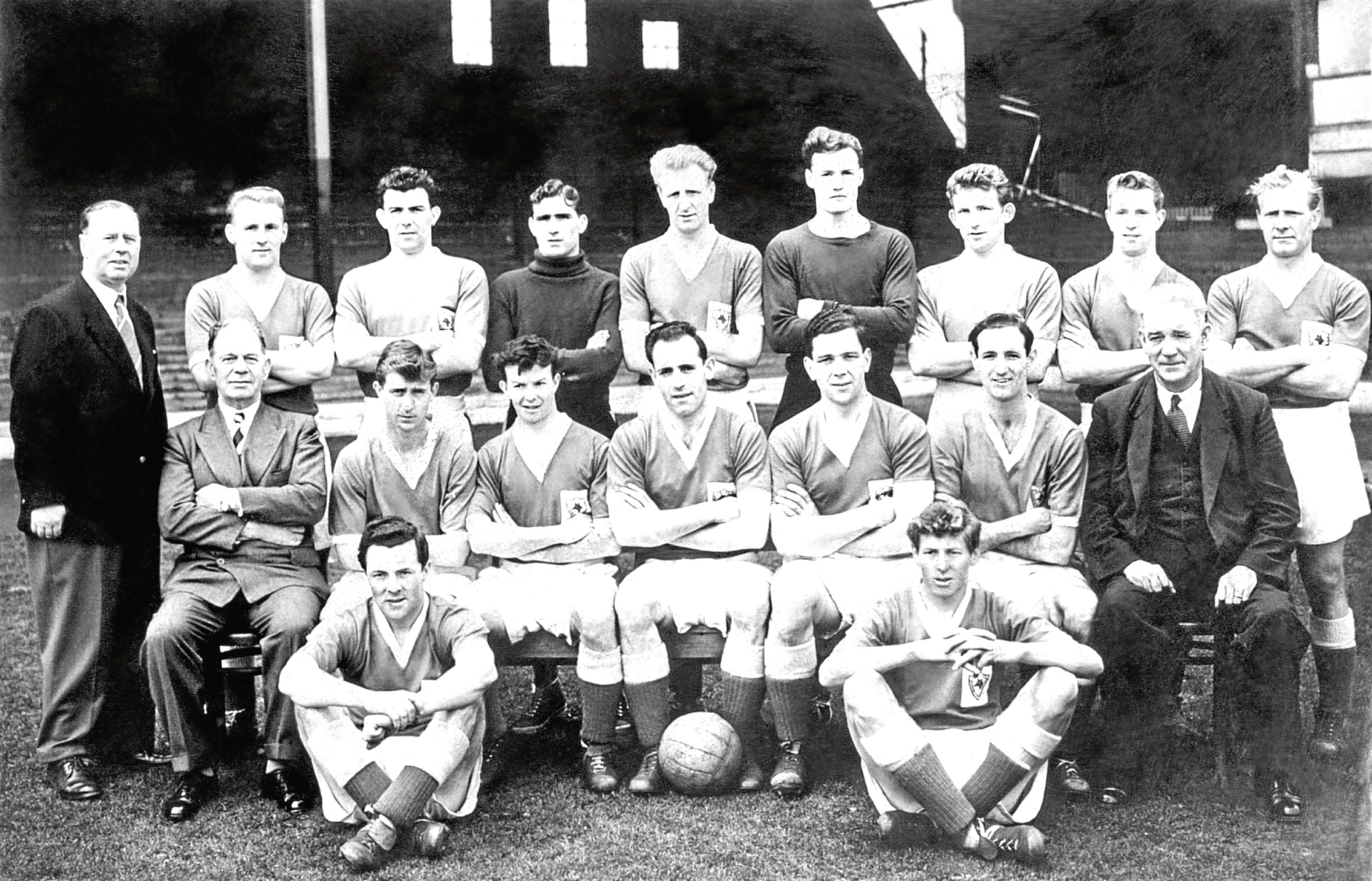 Leicester City, at about 1956-57. David Maclaren was the goalkeeper
