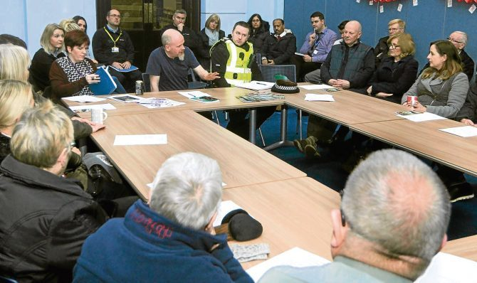 Residents of the Arbroath Road area of Dundee put their concerns about prostitution to police, council and charity representatives at the meeting