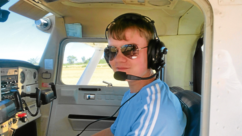 Glen in the cockpit