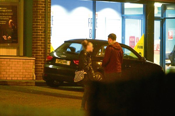 Tele reporter Steven Rae chats to one of the prostitutes on Arbroath Road in Dundee