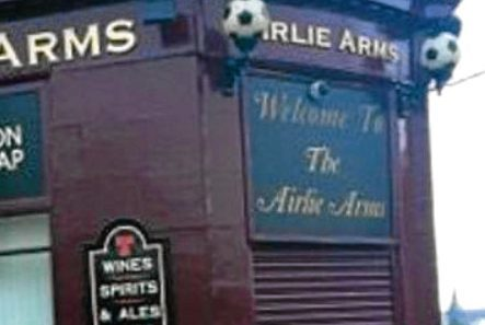 The Airlie arms, formerly known as Four Js