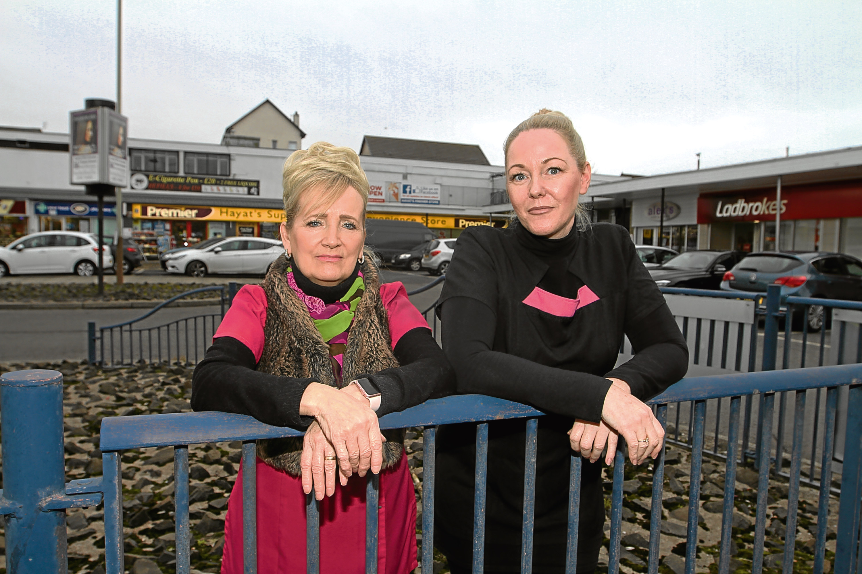 Sandra Squire and Fiona Paterson, of Alex's Hair and Beauty in Happyhillock Road.
