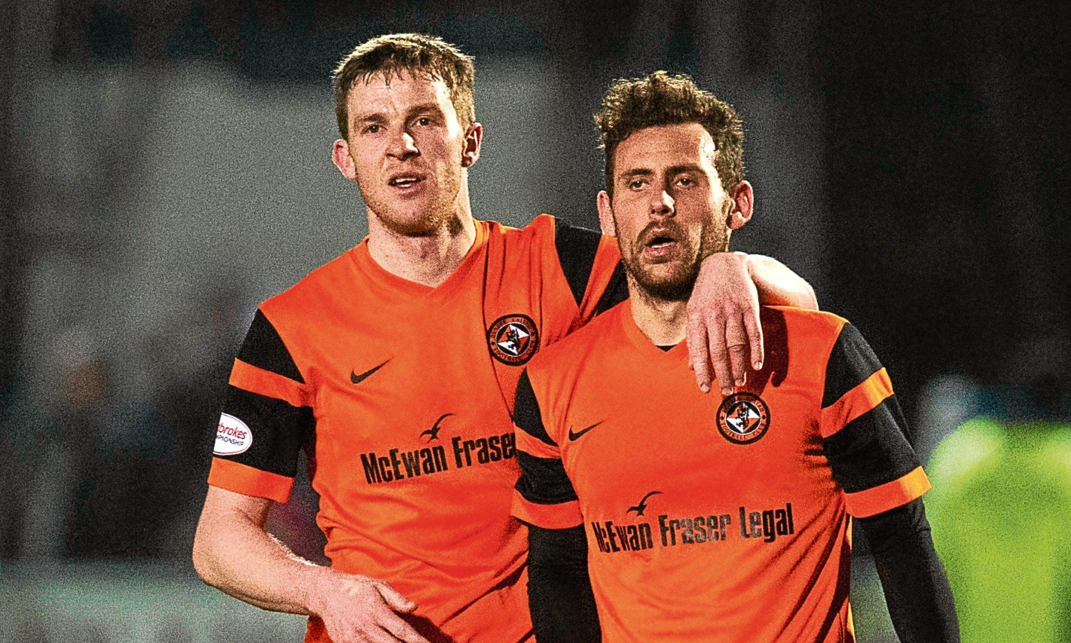 Paul Dixon (left) and Tony Andreu at full-time.