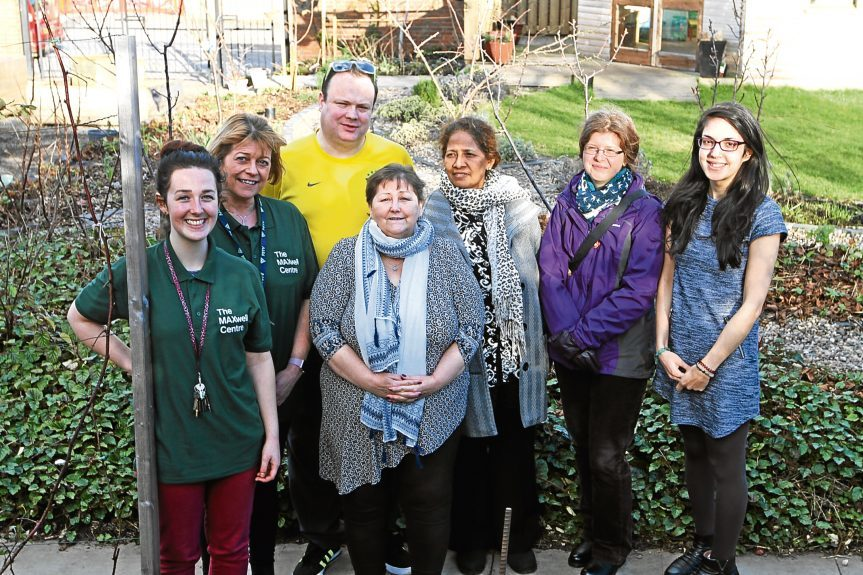 Some of the volunteers at the Every1 Garden at the Maxwell Centre.