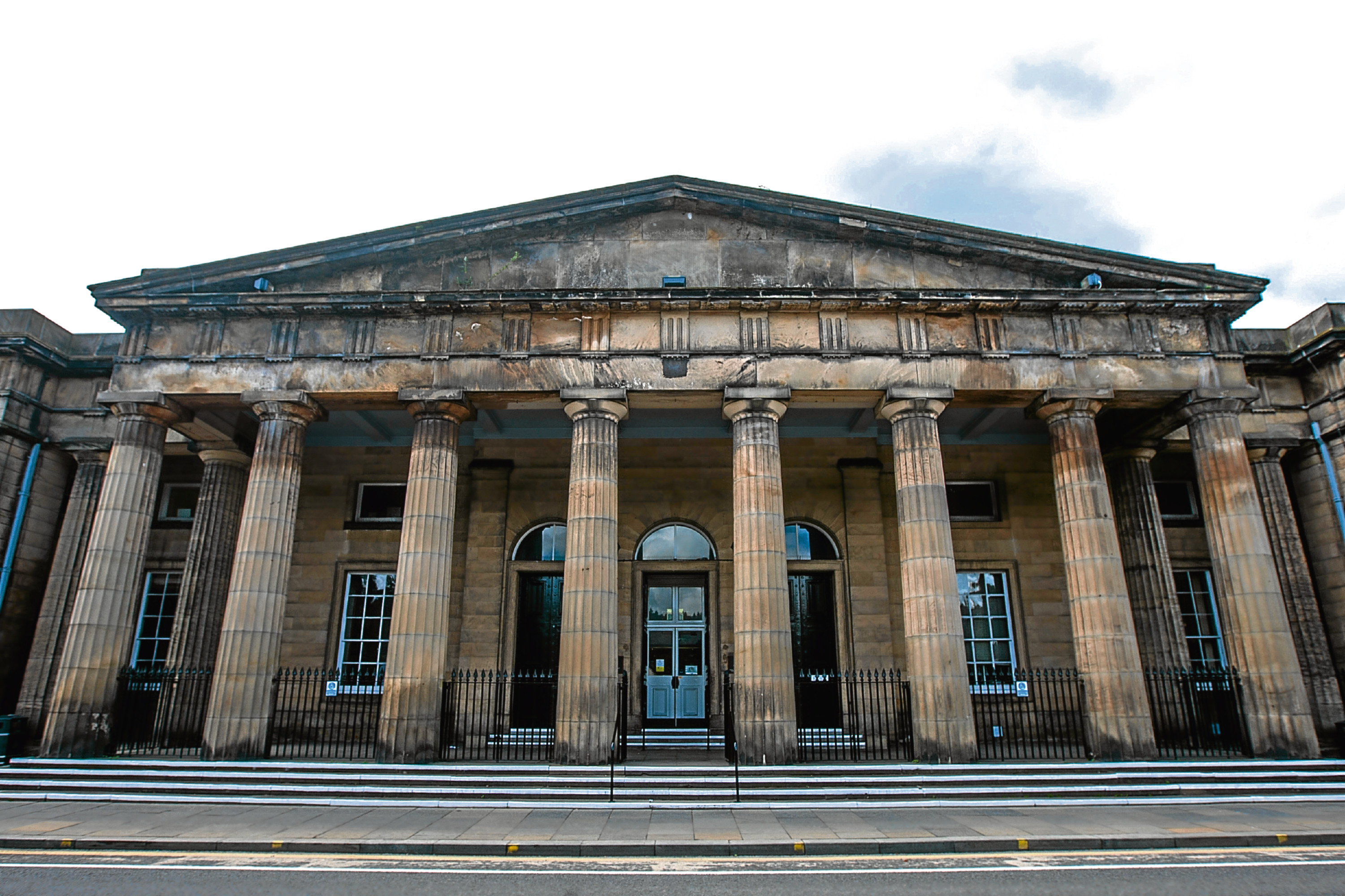 Building exterior of Perth Sheriff Court, Tay Street, Perth