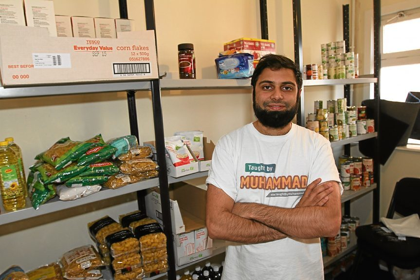 Rizwan Rafik, operations manager at Taught by Muhammad, hopes the joint venture at the Dundee United v Hibs football match will be a success.