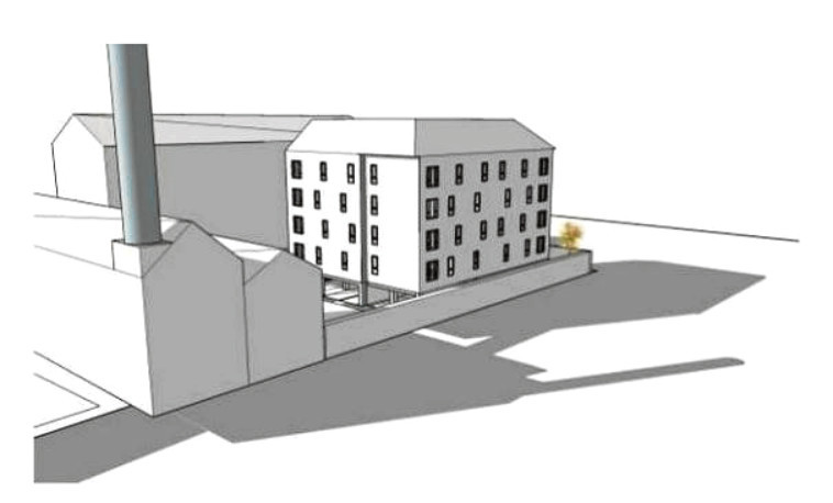 An artist's impression of how the new homes could look.