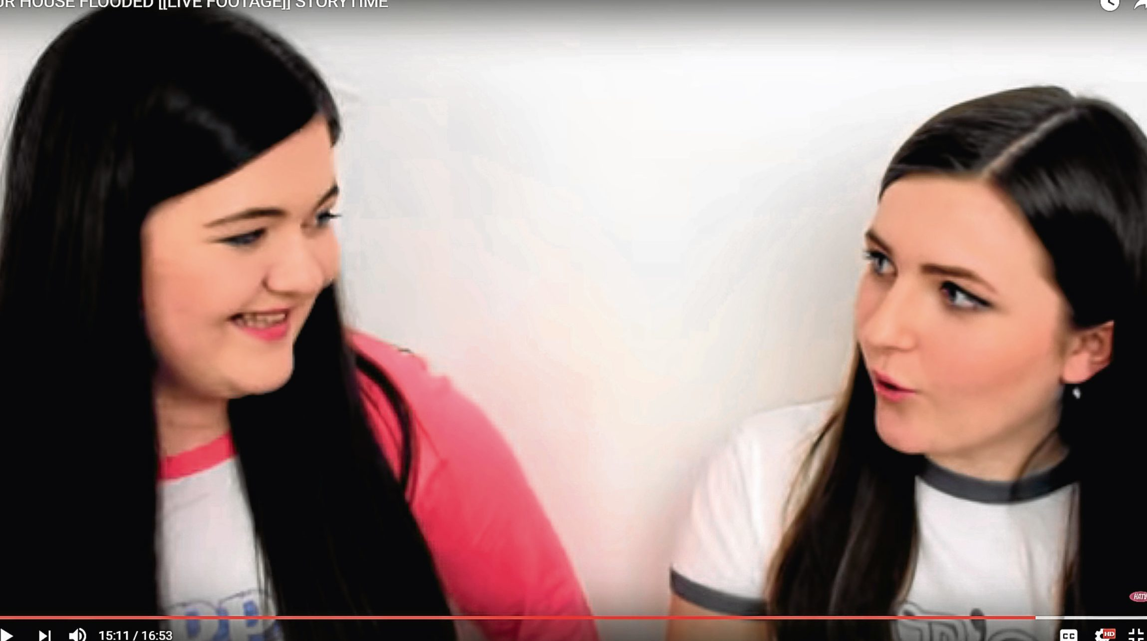 A still from one of the girls' videos.