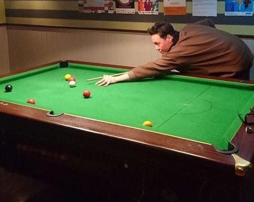 Gok Wan plays pool at Dundee bar Klozet