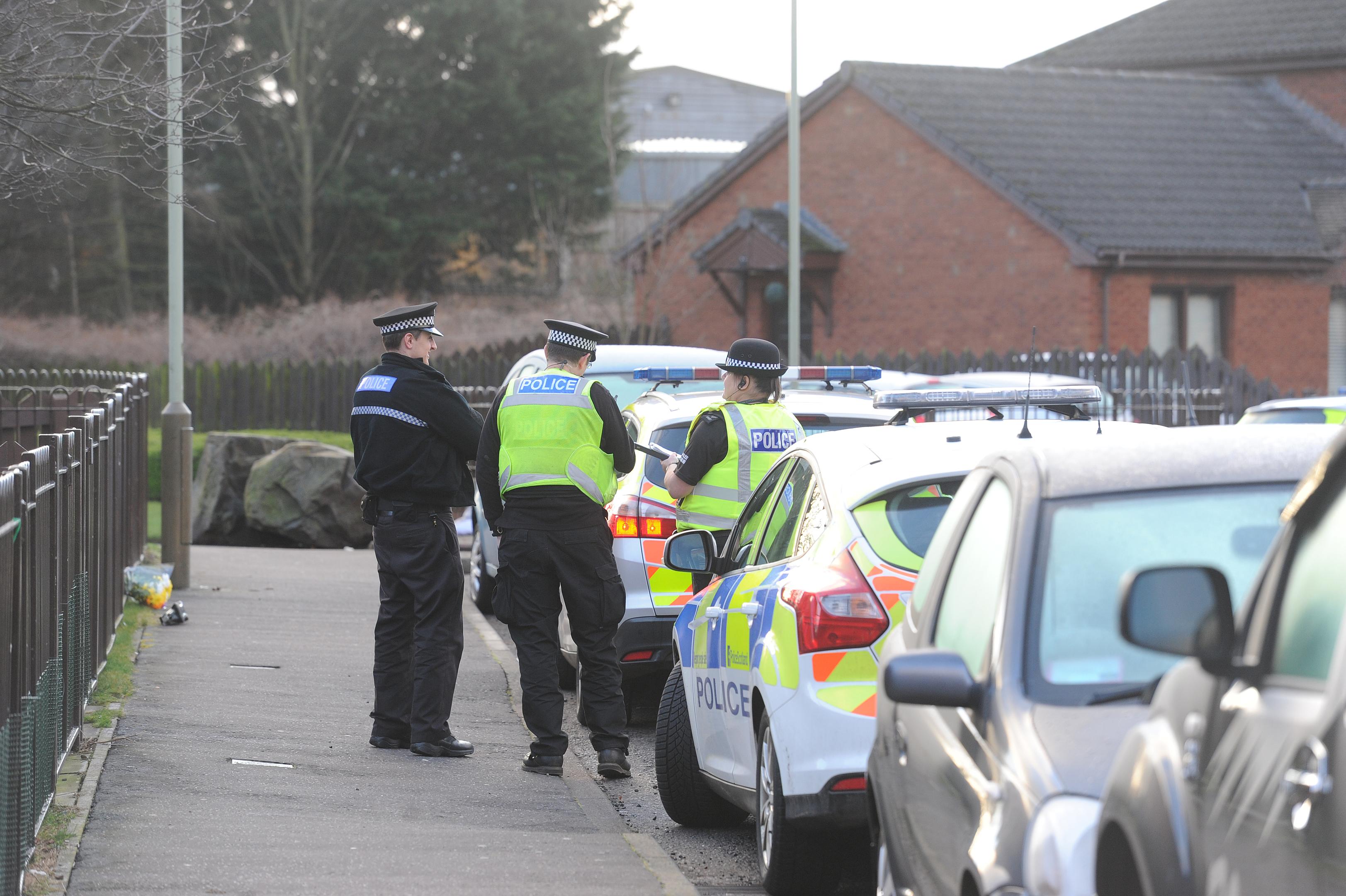 Police on Drumlanrig Drive
