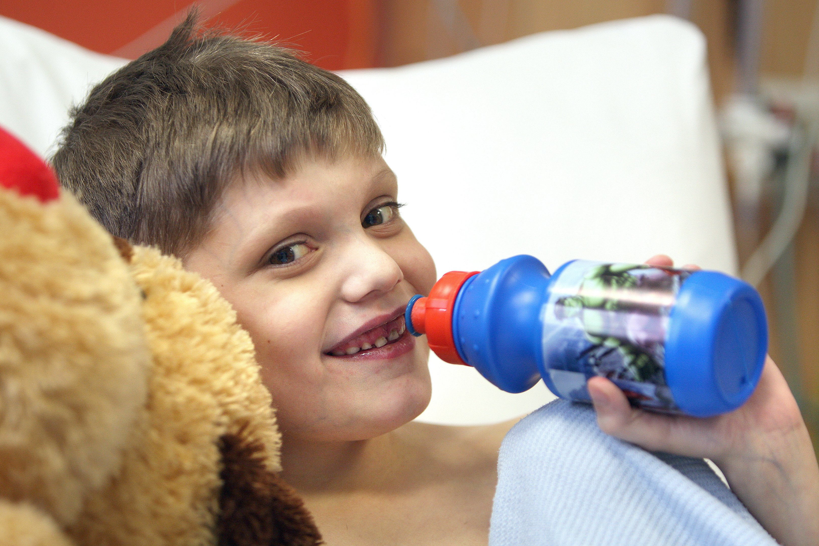 Kenzy, 7, who had a liver transplant at London King's College Hospital,