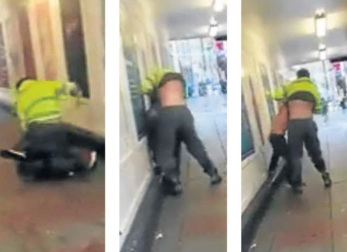 Shocking footage has emerged of a brawl in the city centre. The fight has been slammed by a community leader.