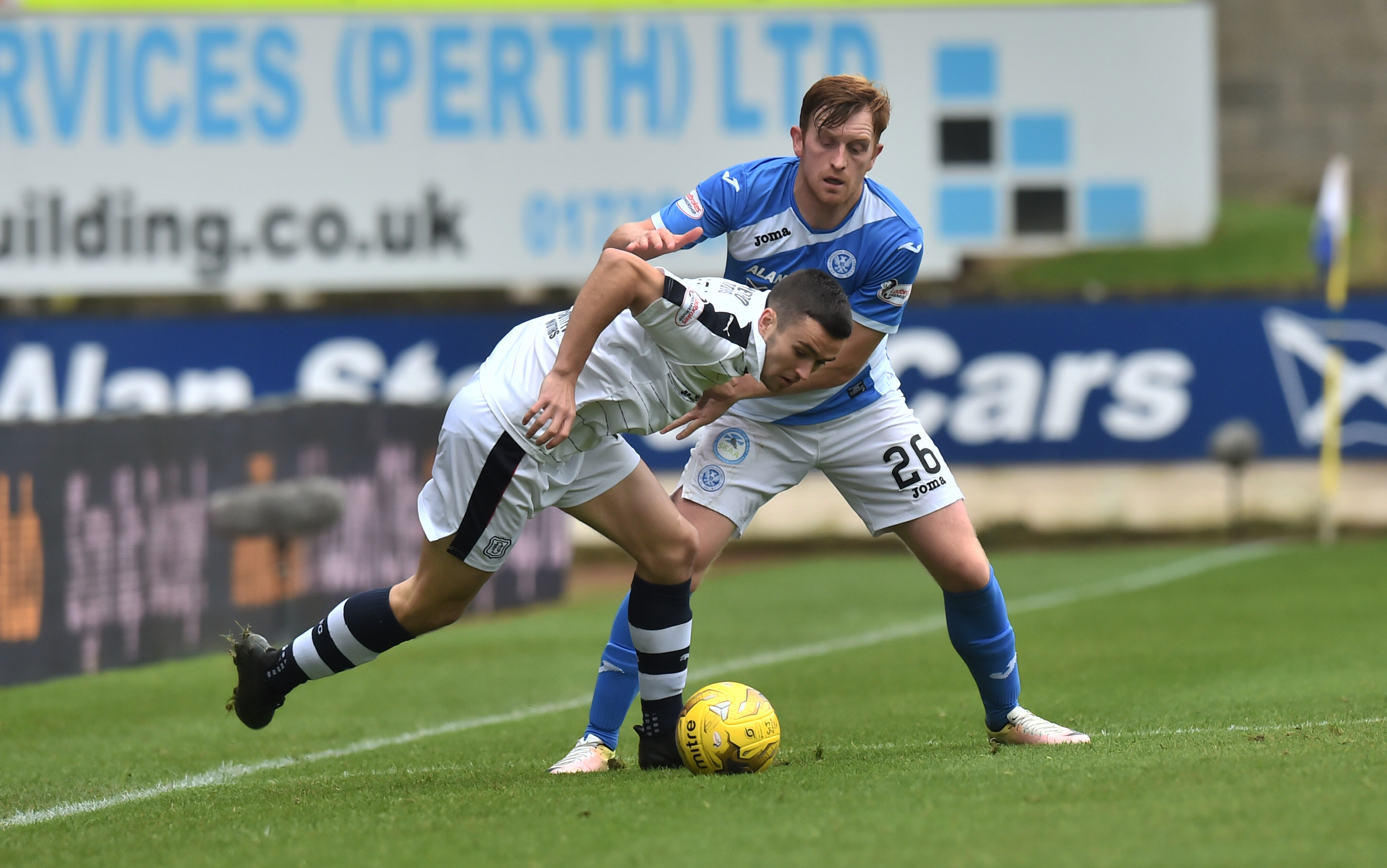 St Johnstone's Liam Craig in action against Dundee earlier in the season