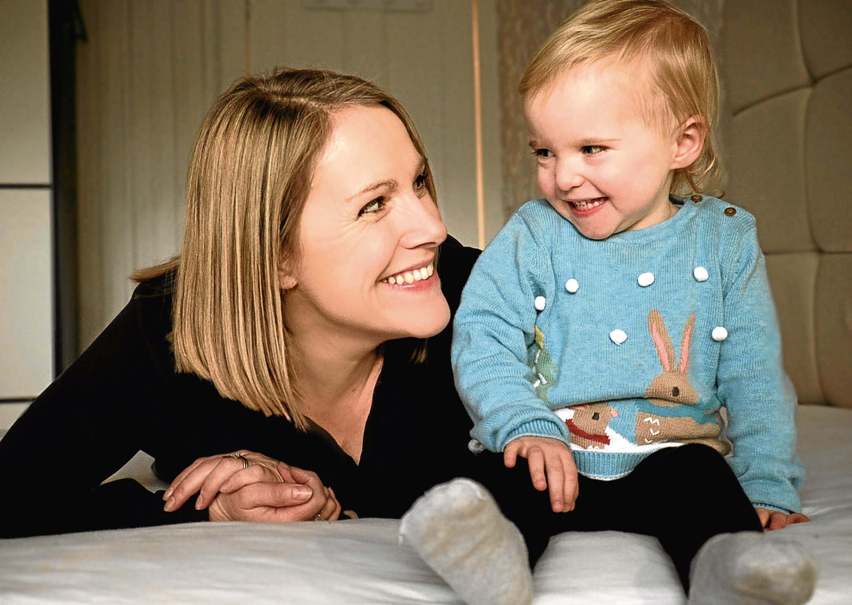 Catherine Smith with daughter Ella. Picture by Phoebe Grigor.