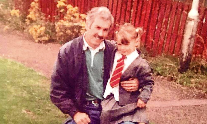 Jordan as a child with her grandad.