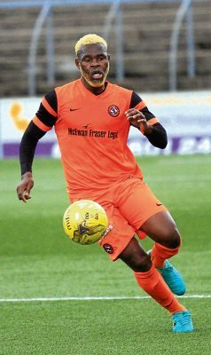 Dundee United trialist Wato Kuate.