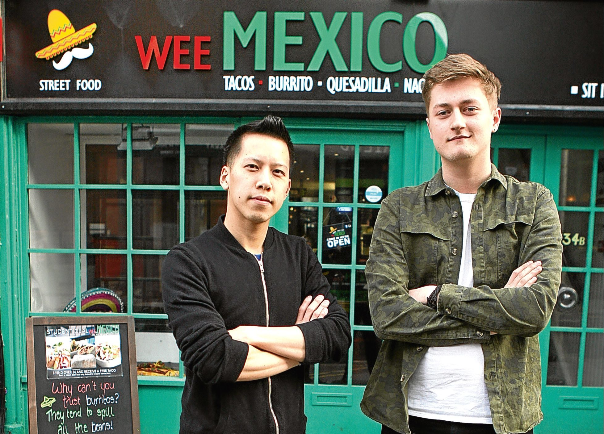 James Fung and Ben Wyatt, co owners of Wee Mexico