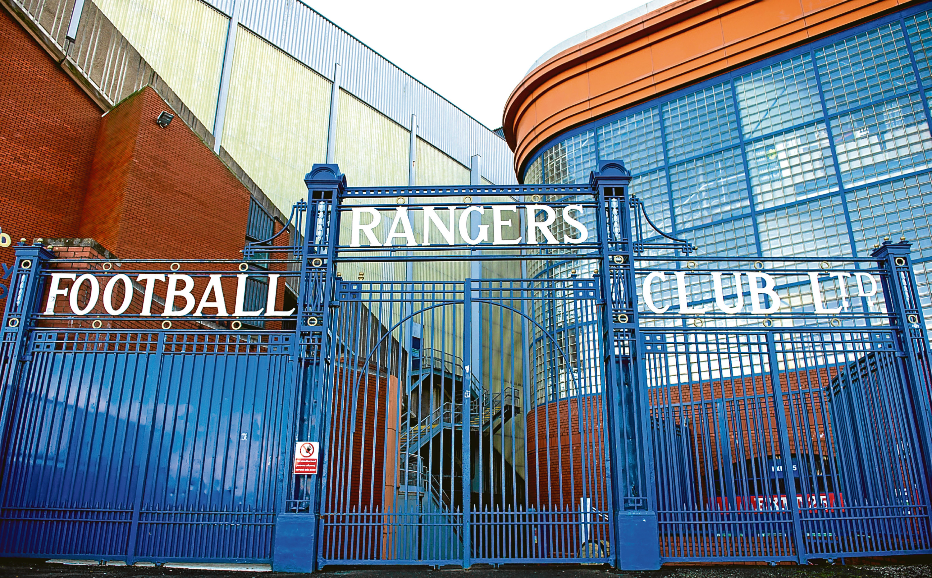 The current Ibrox Stadium.