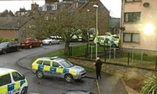 A picture of the incident on Southesk Terrace taken by a passerby.