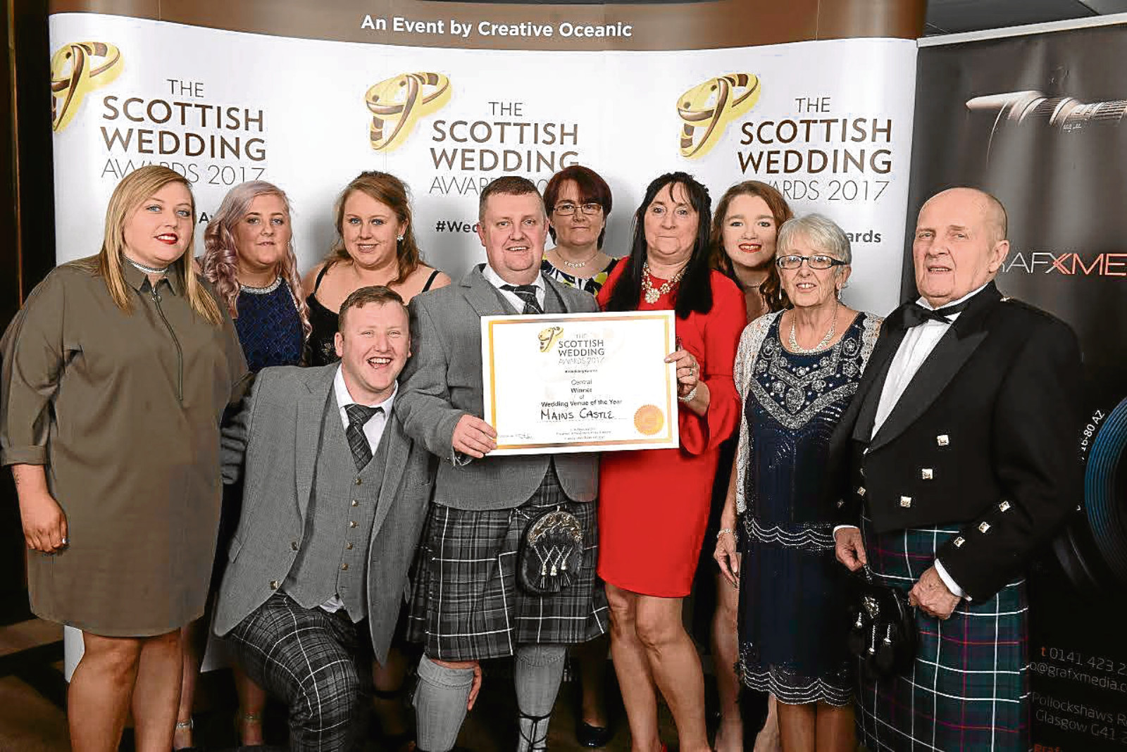 Mains Castle wins wedding venue of the year for the central area at Scottish Wedding Awards 2017