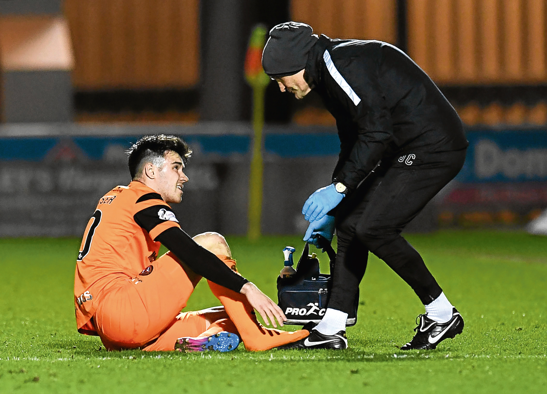 Scott Fraser has broken his foot.