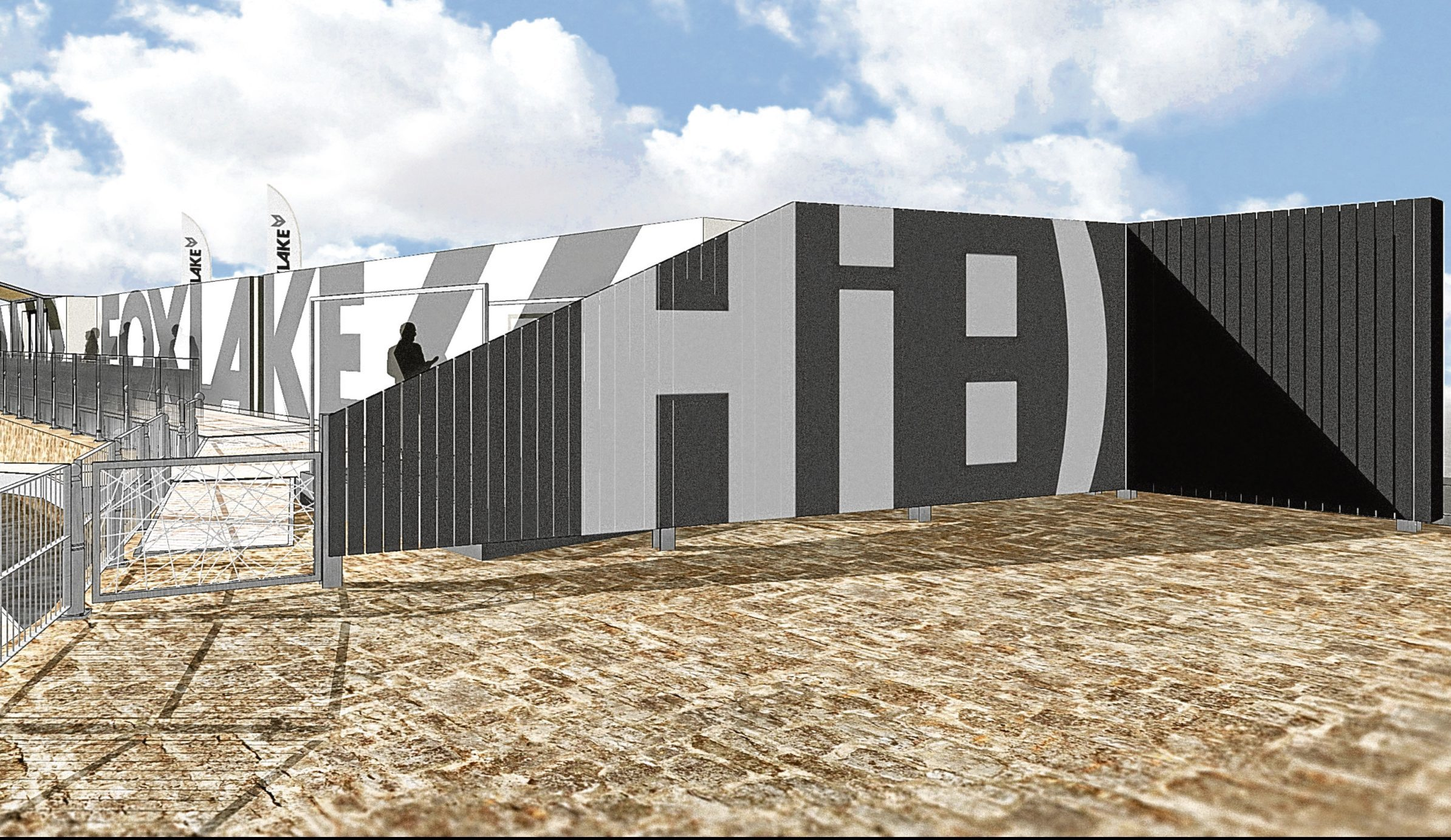 Artist's impressions of how the Foxlake wakeboarding centre at City Quay could look