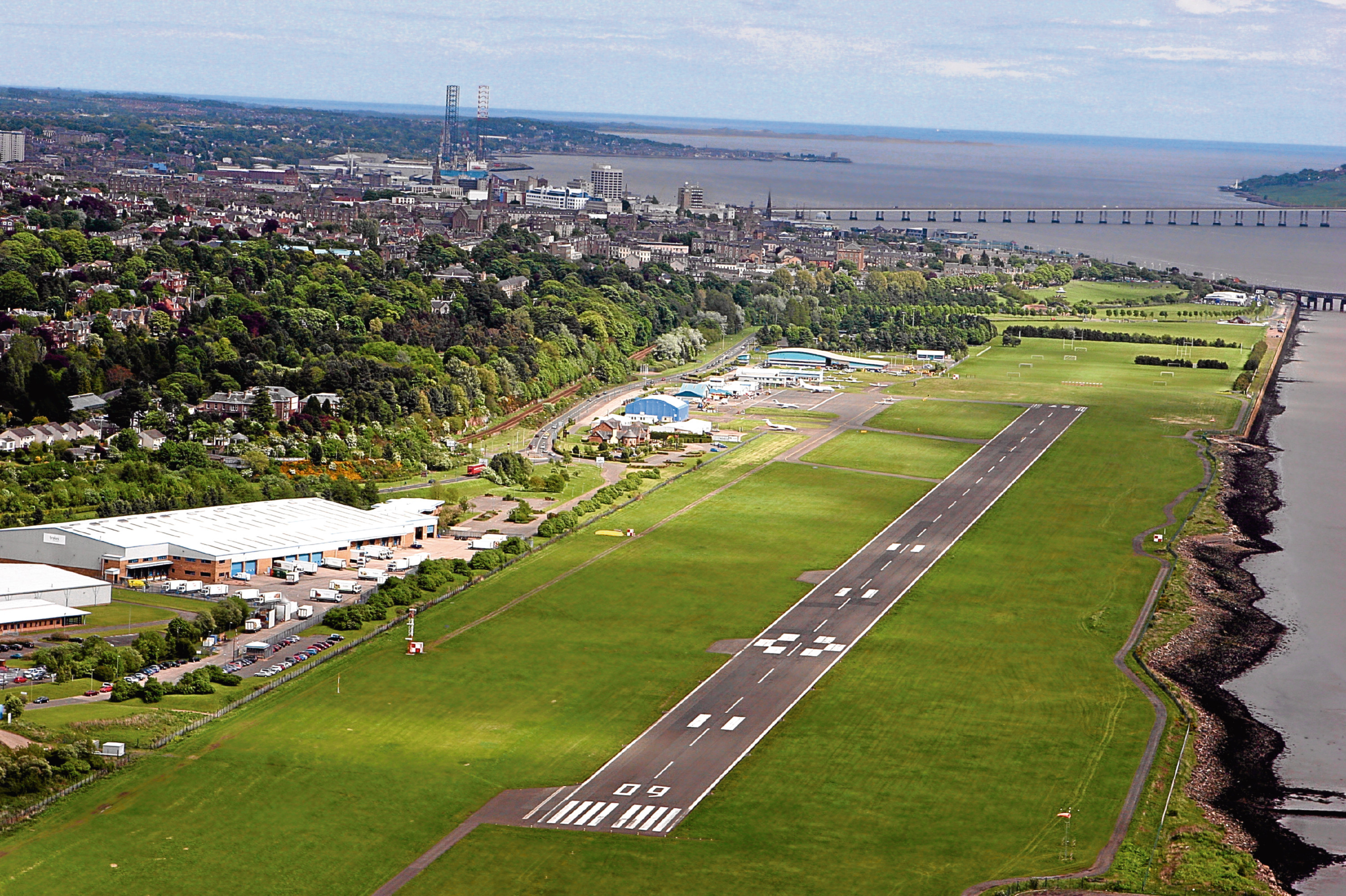 The runway at Dundee Airport