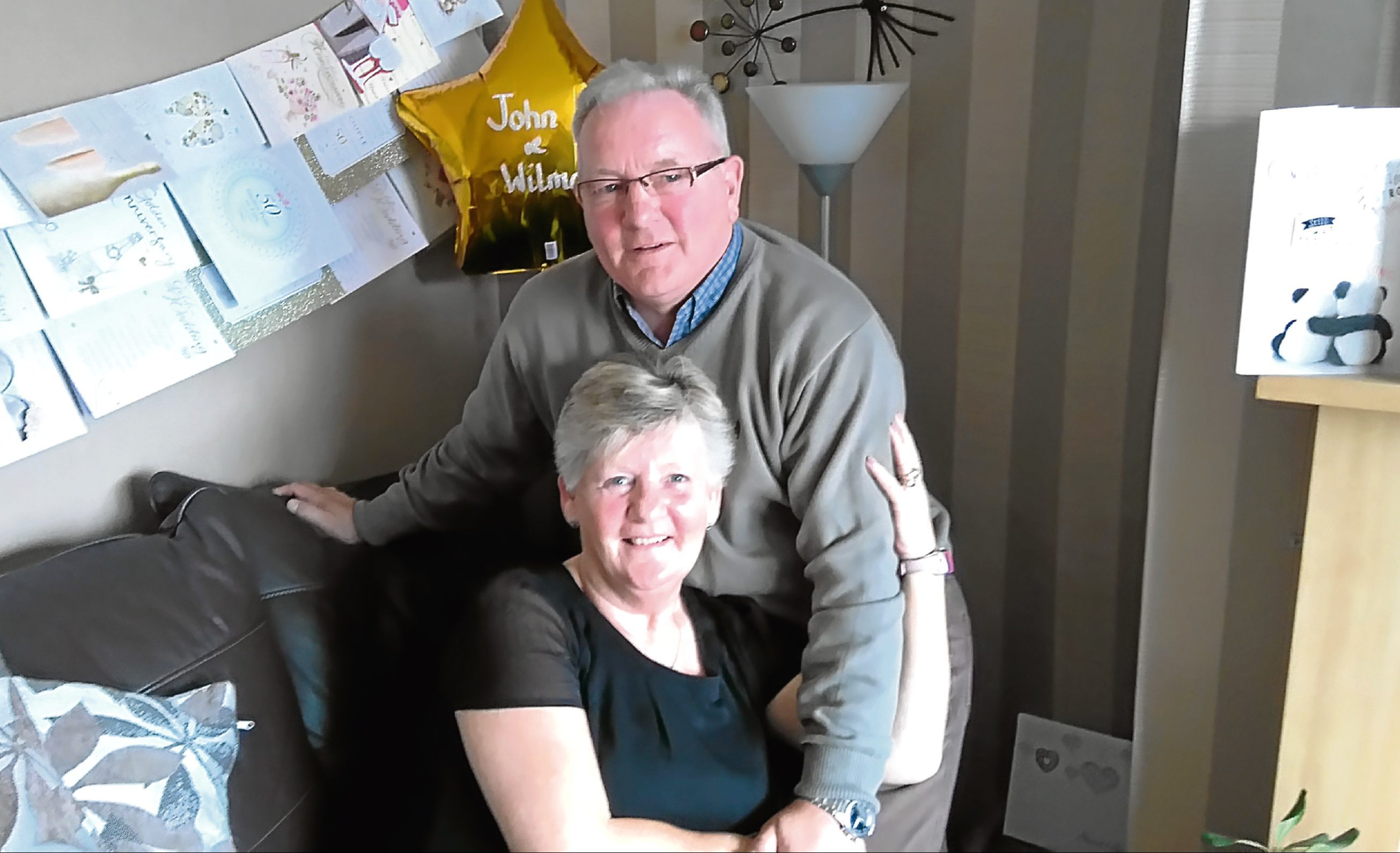John and Wilma Campbell are celebrating their 50th wedding anniversary