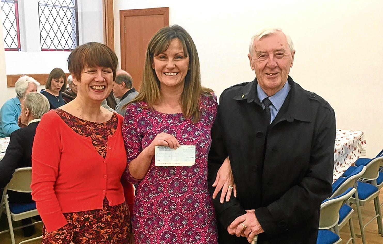 Catrina Boal, Nadia Sutherland (dementia adviser for Alzheimer Scotland) and George Dorward (Veronica's husband)