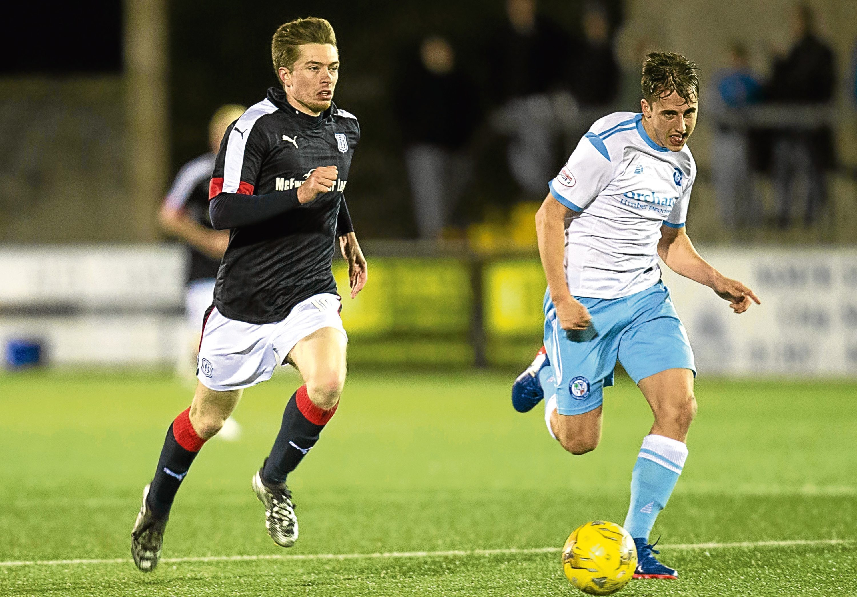 Craig Wighton played the entire 90 minutes as a Dundee XI defeated Forfar in Martyn Fotheringham's testimonial at Station Park on Tuesday night