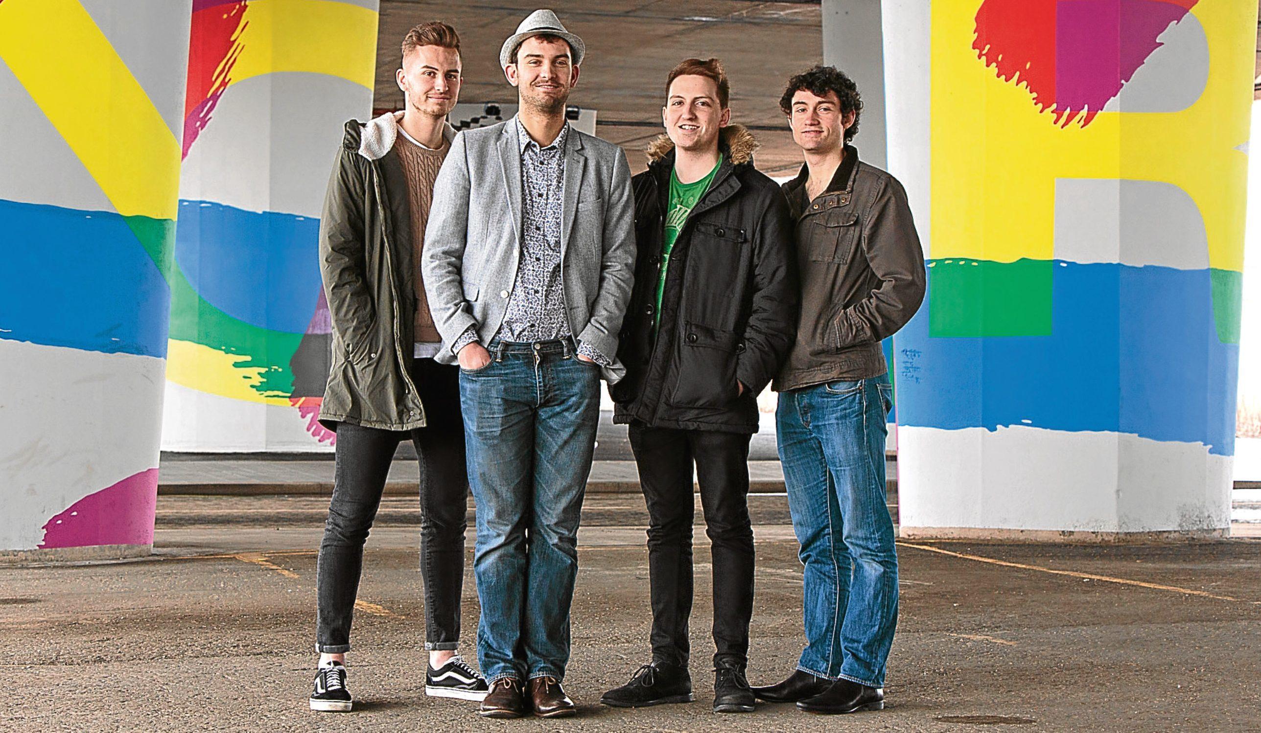 Band members Paul Weir, Craig Weir, Josh Landsburgh and Ross White