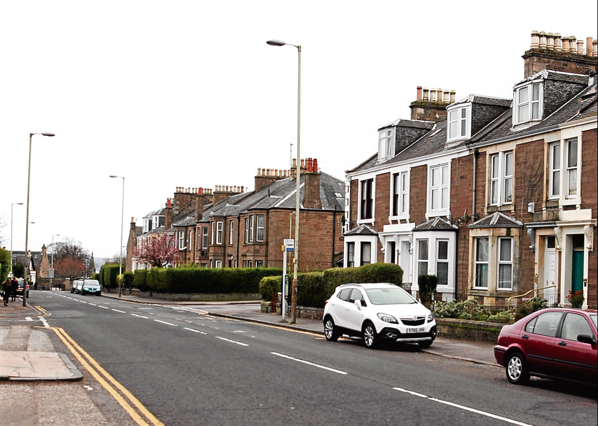 Forfar Road, Dundee, where the house robbery took place