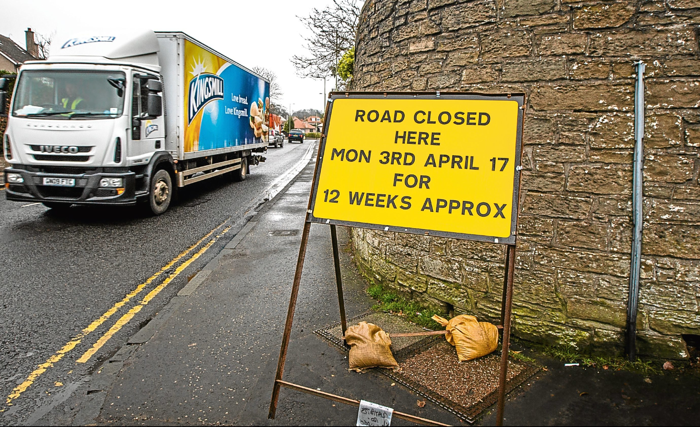 A 12-week programme of roadworks in Claypotts Road, Broughty Ferry, is set to begin on Monday
