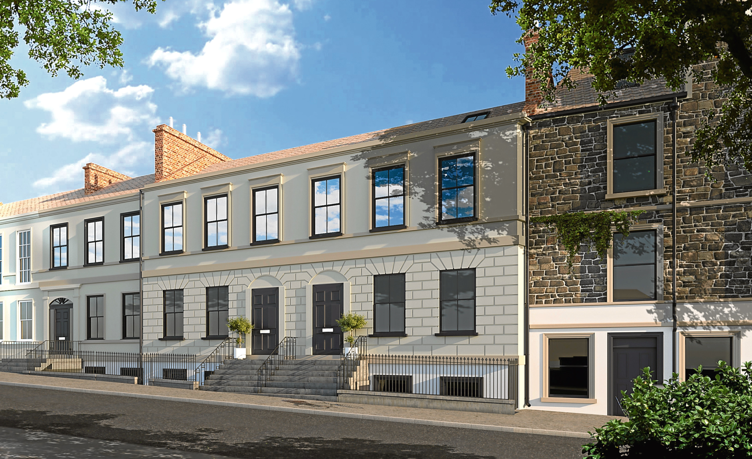 An artist's impression of the flats where one of the city's most popular pubs used to be based