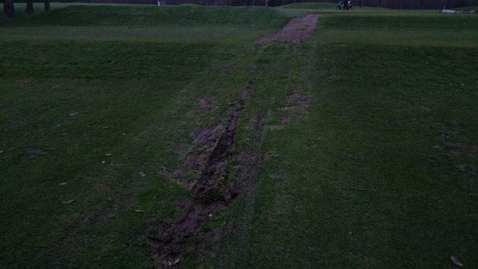 Caird Park golf course vehicle churn 2