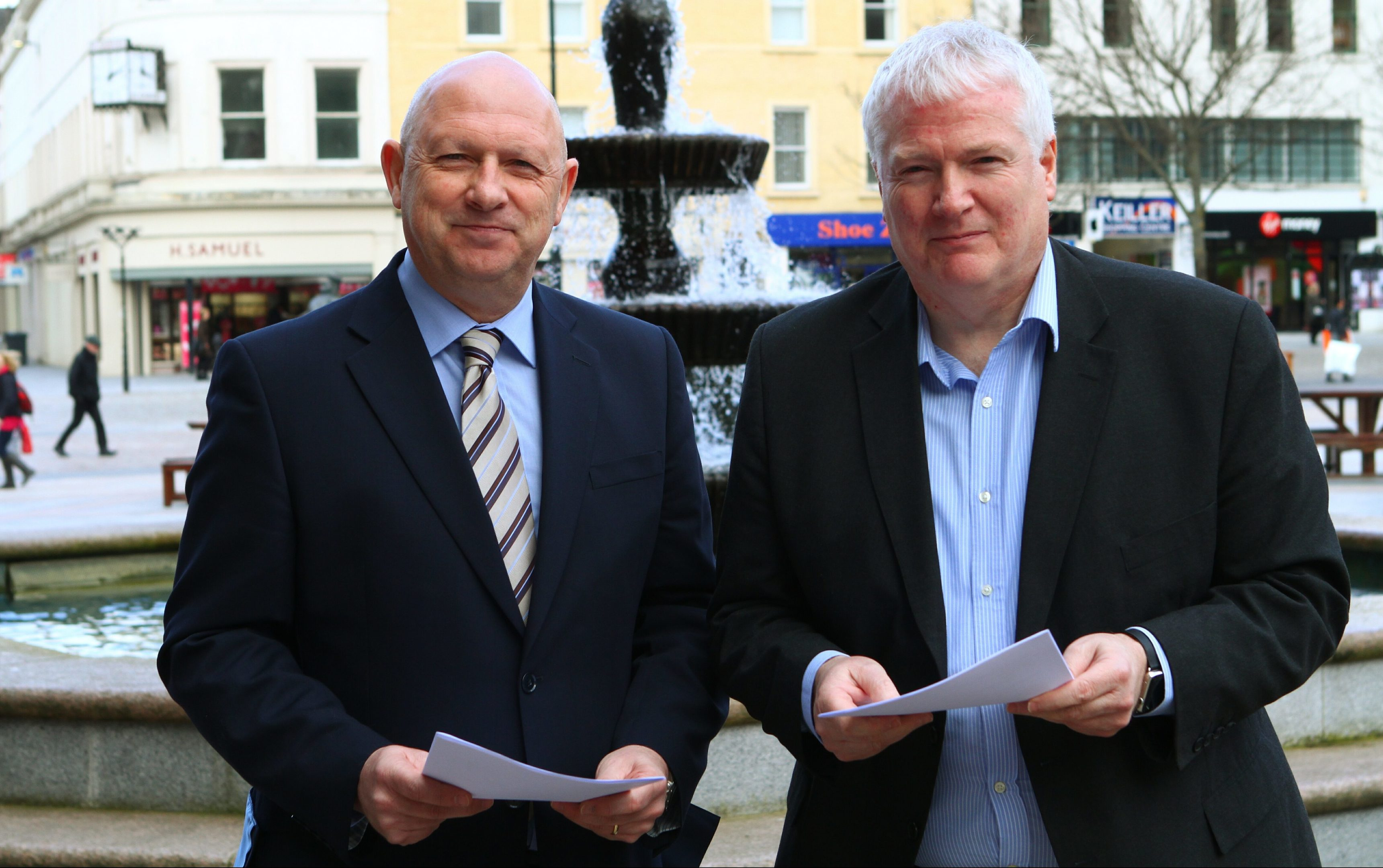 Detective Inspector Garry Fraser and Paul Clancy have pledged to keep schoolchildren as safe as possible