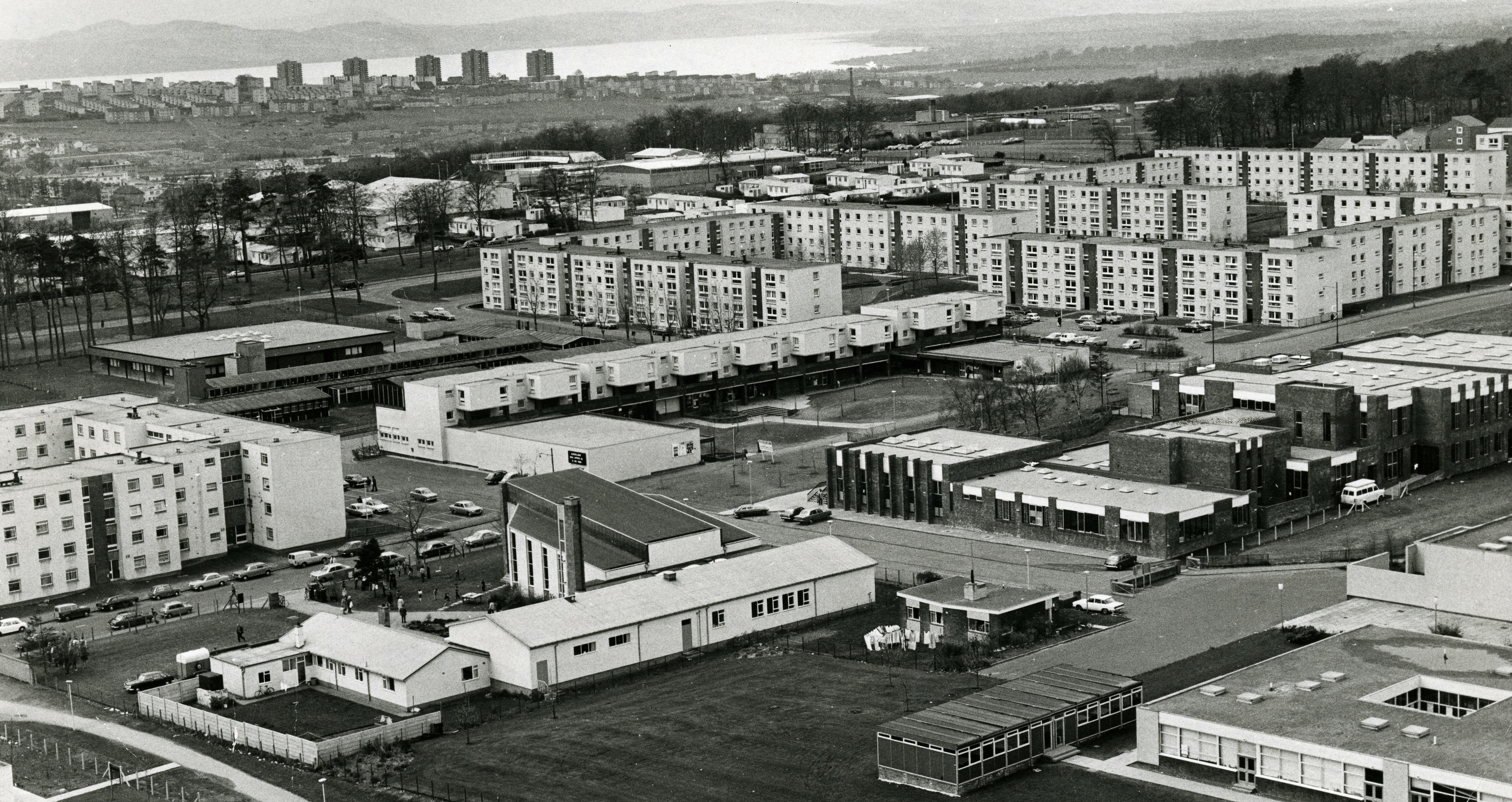 Ardler pictured from above in 1977.