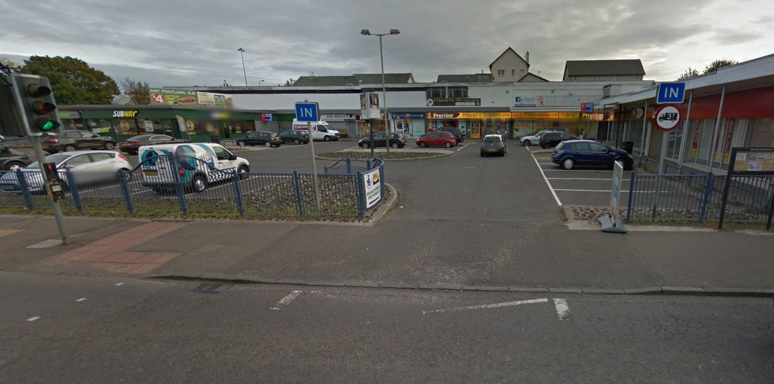 Happyhillock Shopping Centre (stock image)