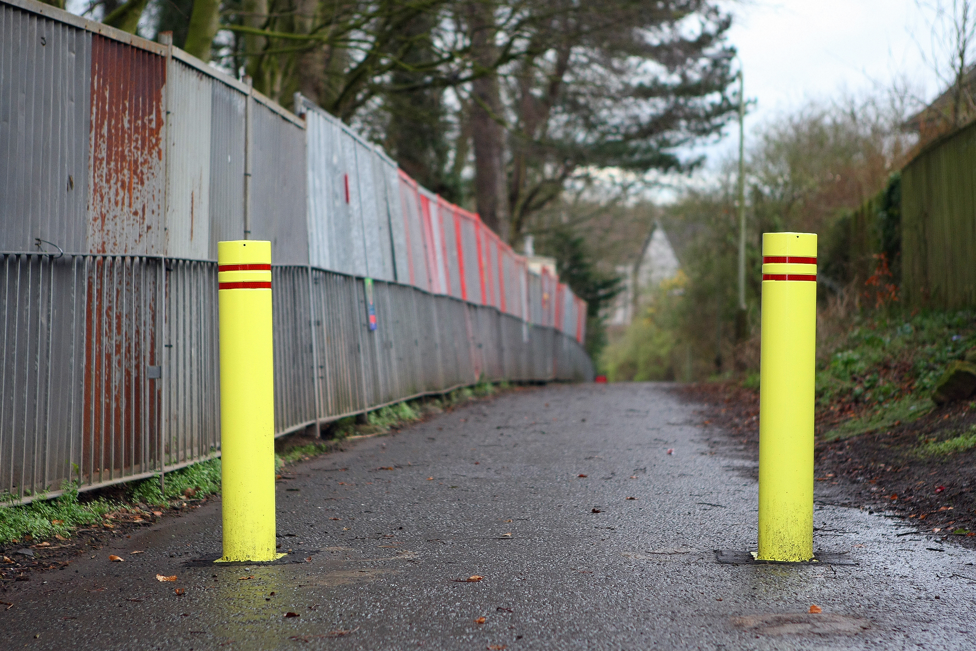 Bollards have been installed at Panmurefield