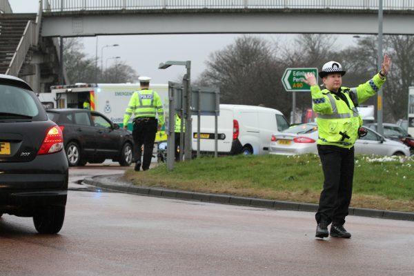 Motorcycle crash Kingsway traffic (4)