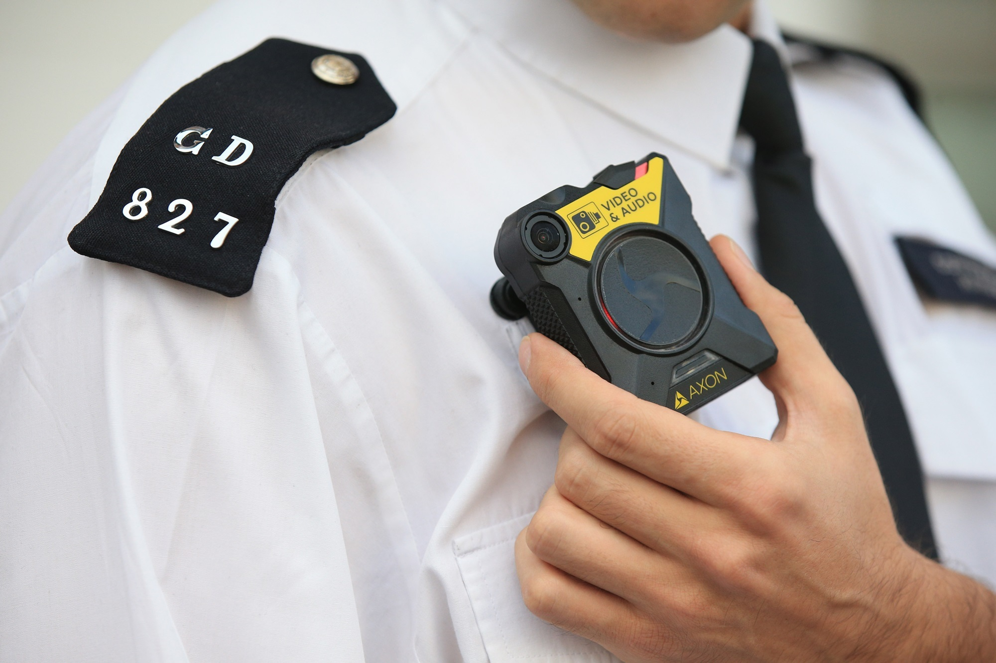 A body camera, similar to those to be worn by council staff