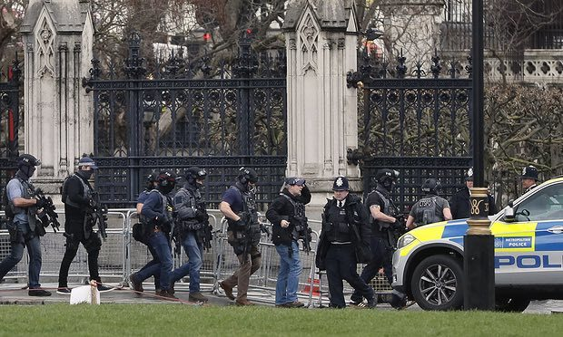 Armed police respond to incident at Westminster