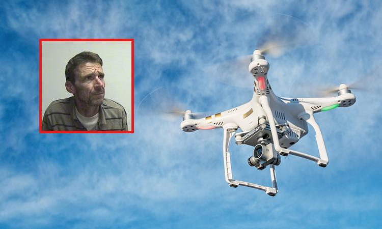 John Grant crashed his drone into a garden