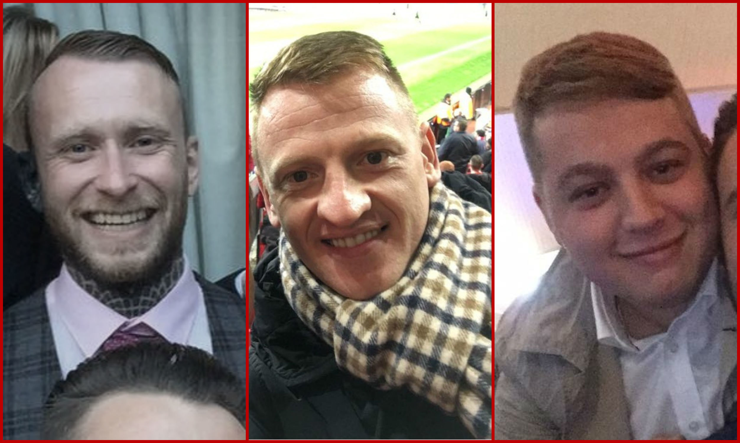 Left to right: Gary McDonough, Anthony Bruce and Reece Wright, who've been told to pay up for the offences.