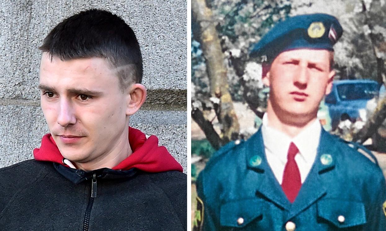 Aldis Minakovskis (left) killed Aigars Upenieks at the block of flats on Thurso Crescent