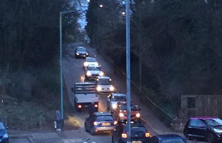 Traffic caught up in last night's incident