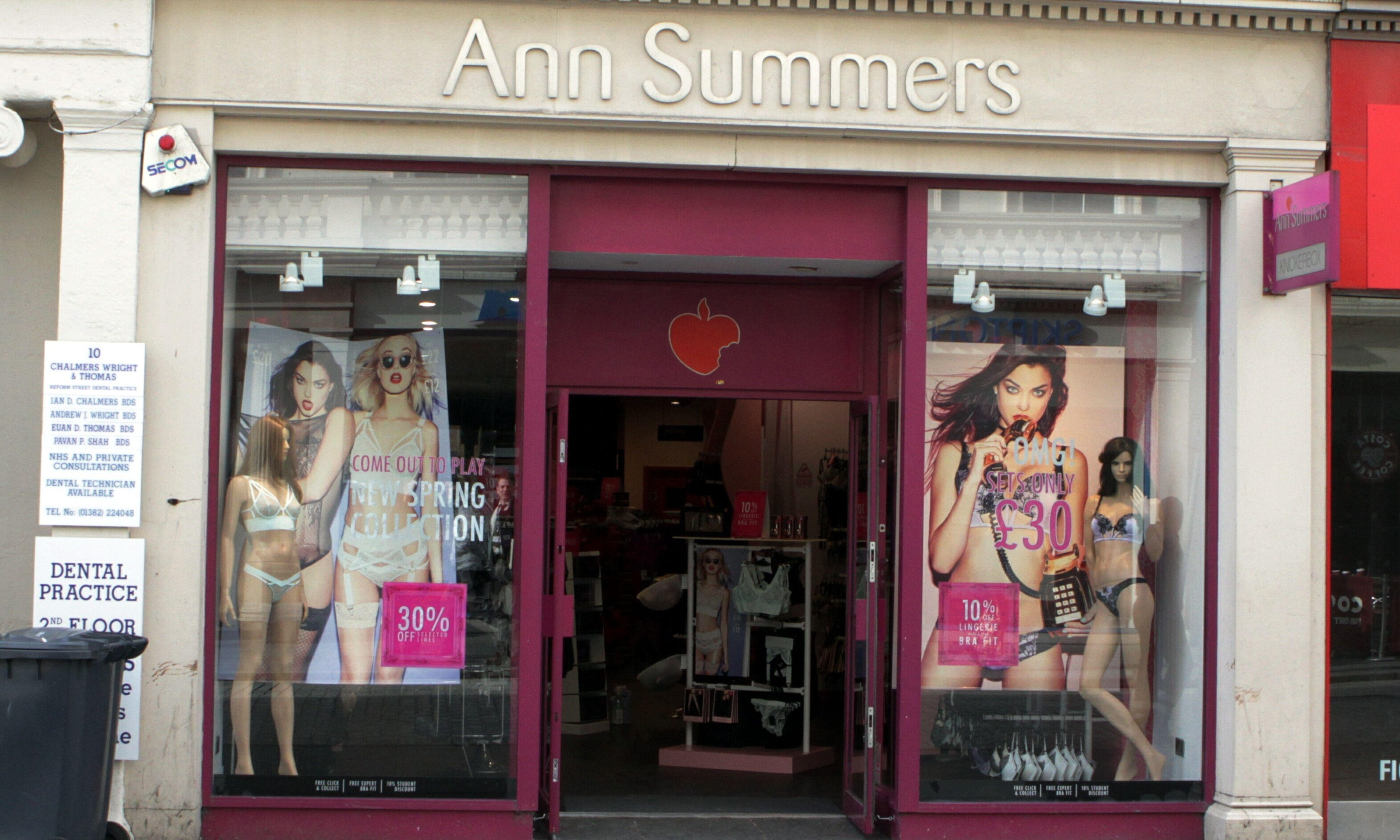 Ann Summers on Reform Street. (Stock image).