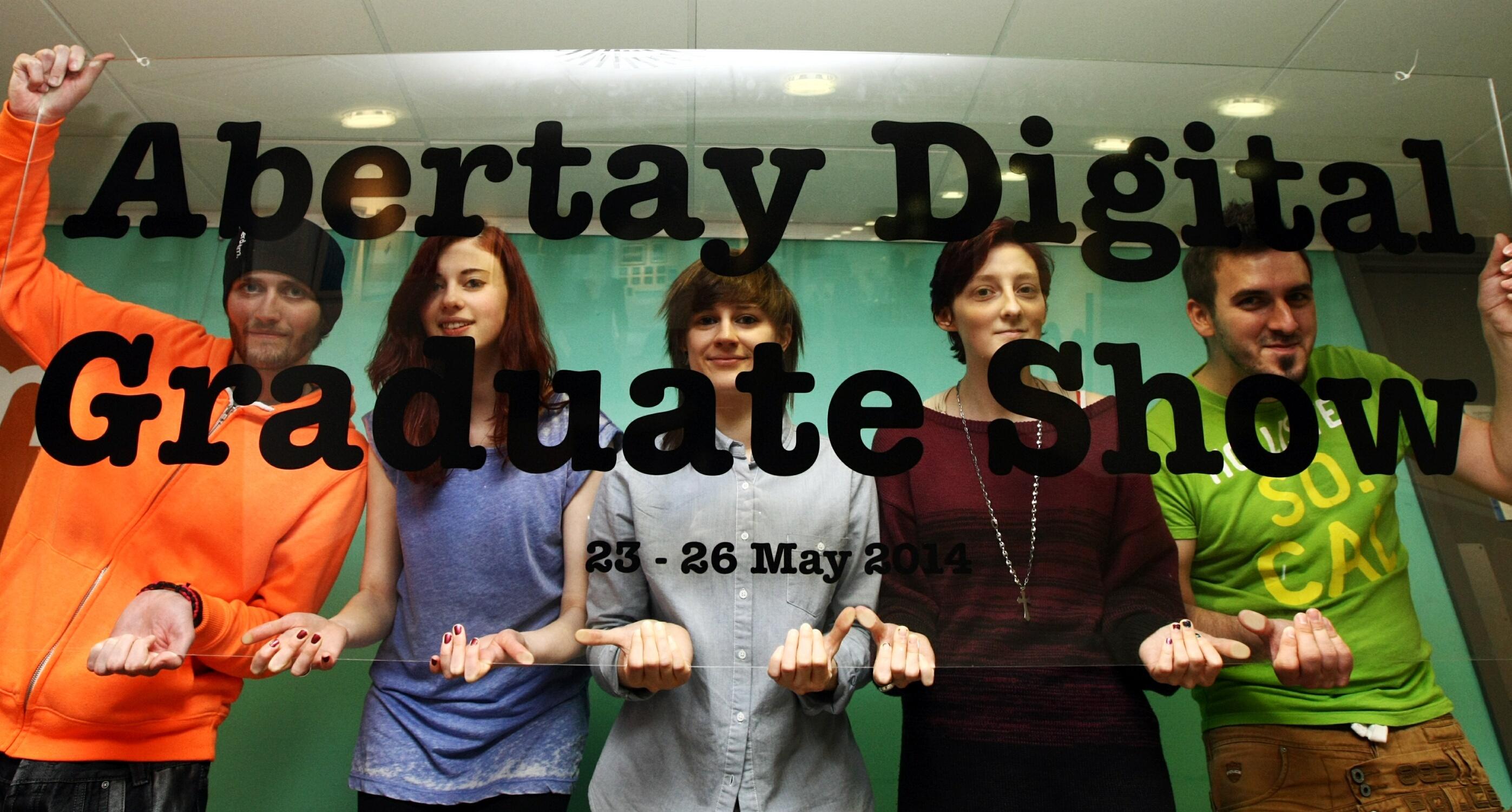 Students at the Hannah Maclure Centre at the University of Abertay