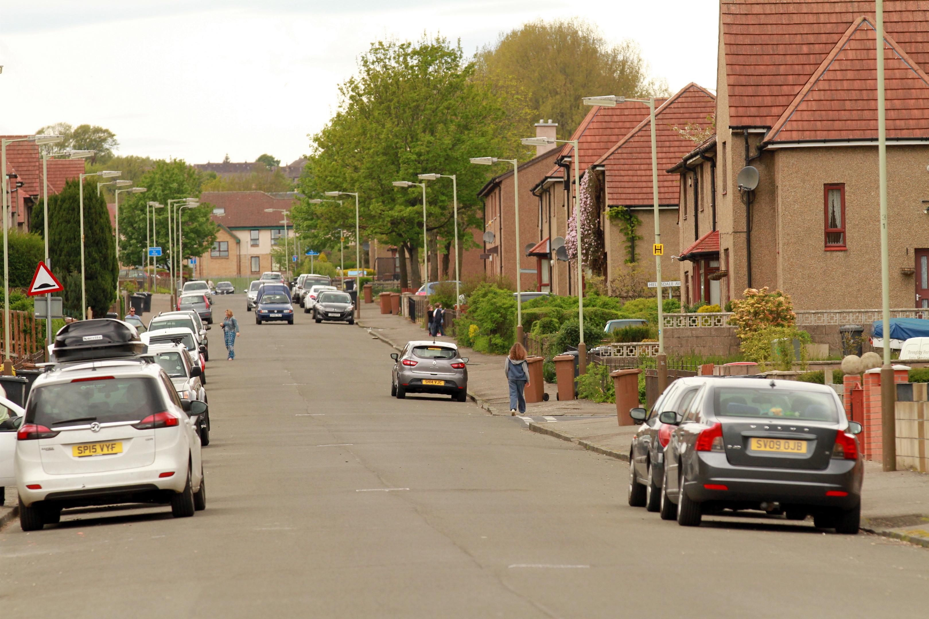 Helmsdale Avenue in Kirkton (stock image)